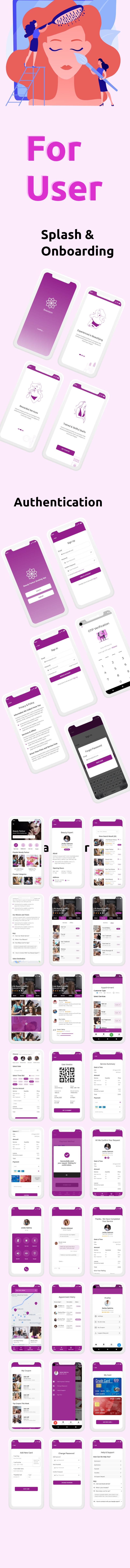 Beautyon - Beauty Parlour Booking Flutter Full App UI Kit - 2