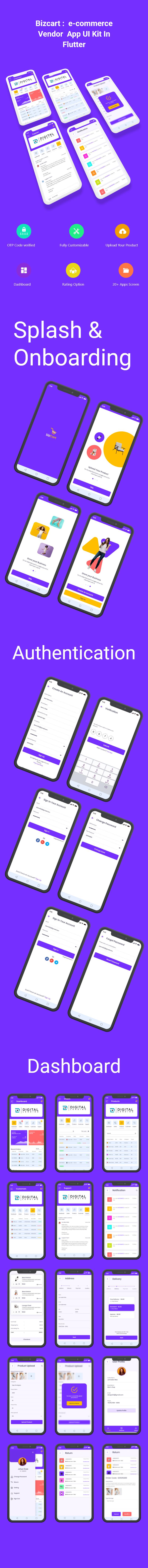 BizCart - Multi vendor e-commerce Flutter Full App UI Kit - 3