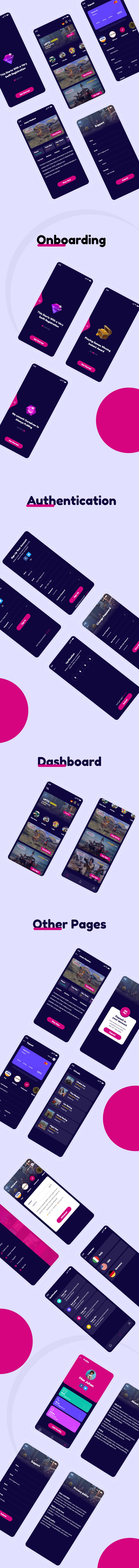 Gamebaz - Online Gaming App UI Kit - 1