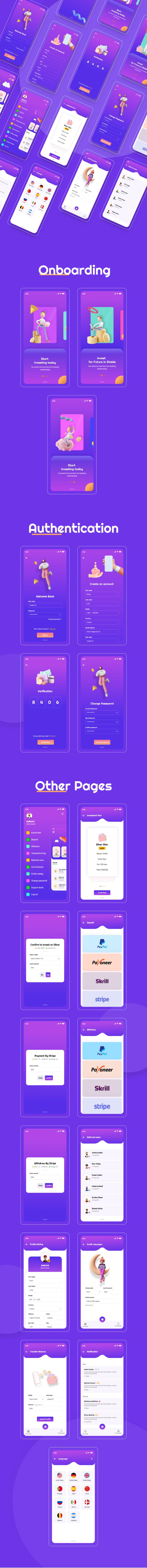 Hyipex - Hyip Investment  App UI Design - 1