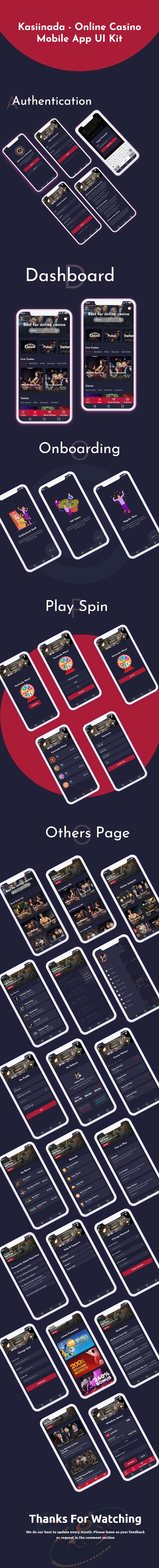 Kasiinada- Online Casino Mobile App UI Kit - 1