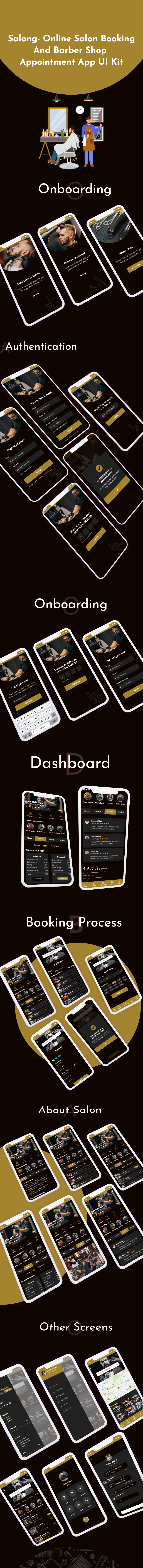 Salong - Online Salon Booking and Barber Shop Appointment App UI Kit - 2