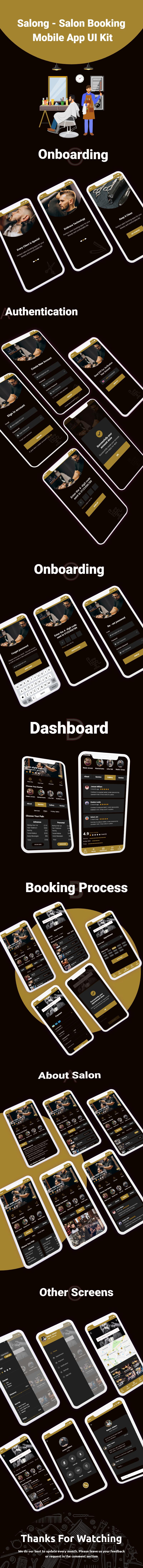 Salong - Salon Booking Mobile App UI Kit - 2