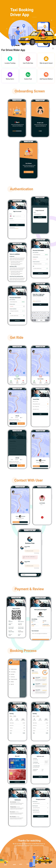 Ubax - Biggest Ride Sharing Flutter Full App UI Kit - 3
